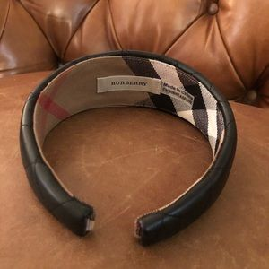 Burberry leather headband
